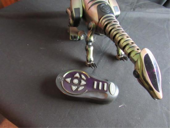 Green Robotic Dinosaur