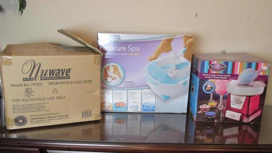 Nuwave Infrared Oven, Pedicure Spa And Cotton Candy Maker - OF