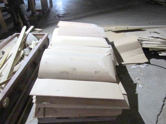 Pallet Of White Oak Casket Lids