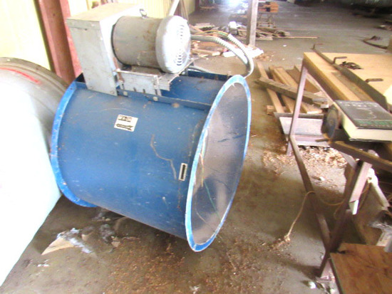 Air Flow Exhaust Fan and Tube For Paint Booth