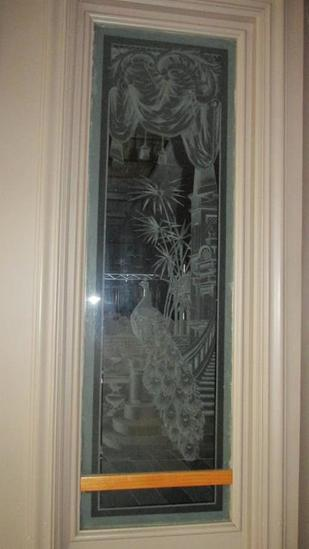 Decorative Frosted & Etched Glass Window - L
