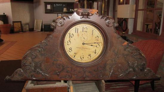 Large Solid Wood Mantle Clock - L