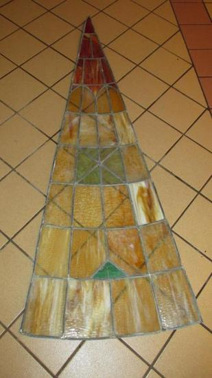 (16)  Panes Of Leaded Stained Glass - L