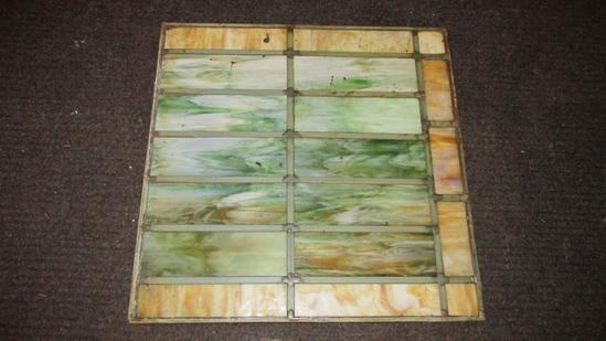 (2) Rectangular Panes Of Leaded Stained Glass - L