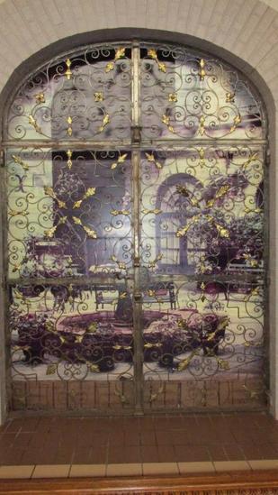 Antique Arched Metal Gate Entranceway - L
