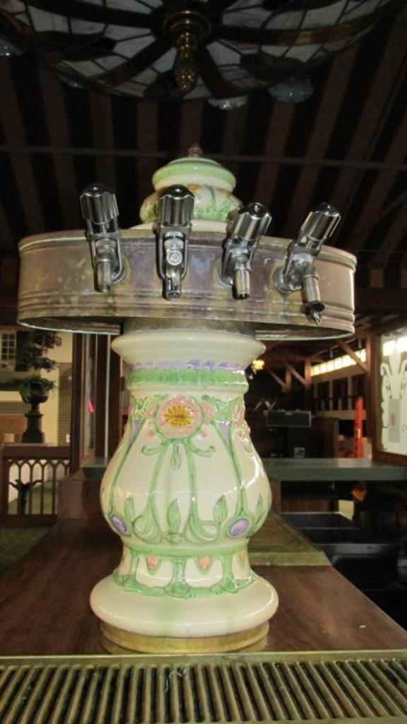Pair Of Antique Porcelain Bar Taps - A