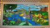 Large Leaded Stain Glass Landscape - R