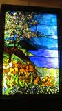 Leaded Stained Glass Wall Insert - Ml