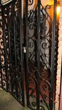 Wrought Iron Security Gate With Door - H