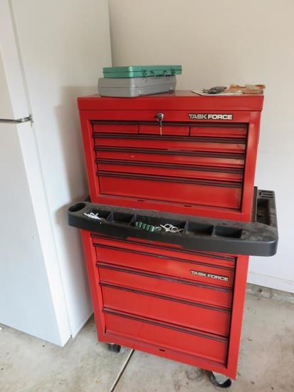Taskforce Lockable Two-Piece Tool Chest