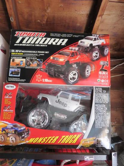 (2) Remote Control Monster Truck R/C Race Cars-G
