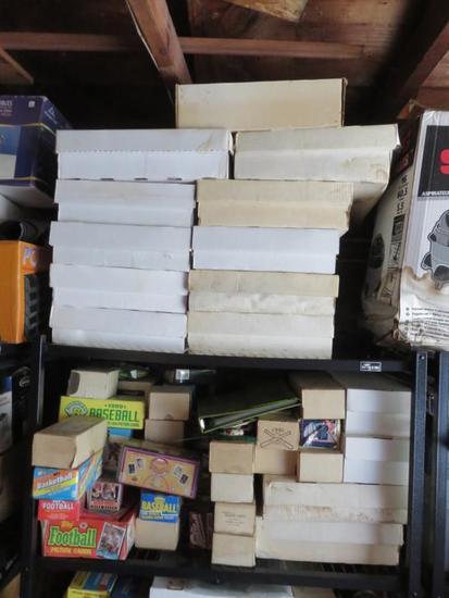 (2) Shelves Baseball Cards-G