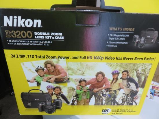 Nikon D3200 Camera Double Zoom Lens Kit-L