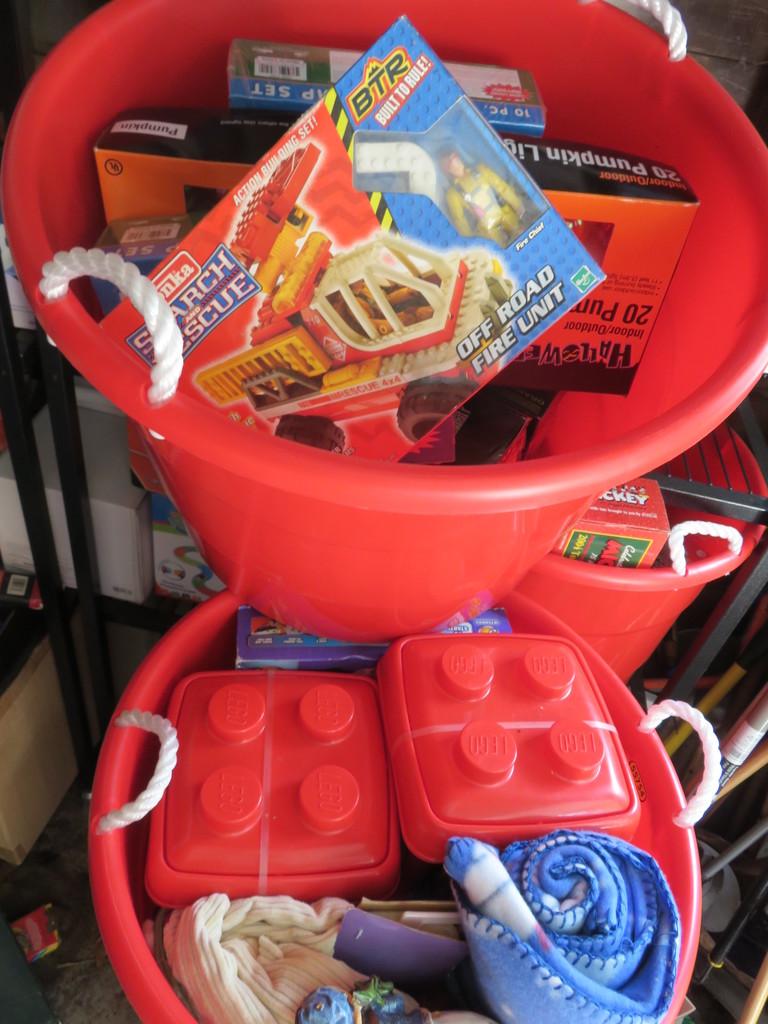 Toys, (2) Spring Clamp, Lighted Pumpkin Set-G
