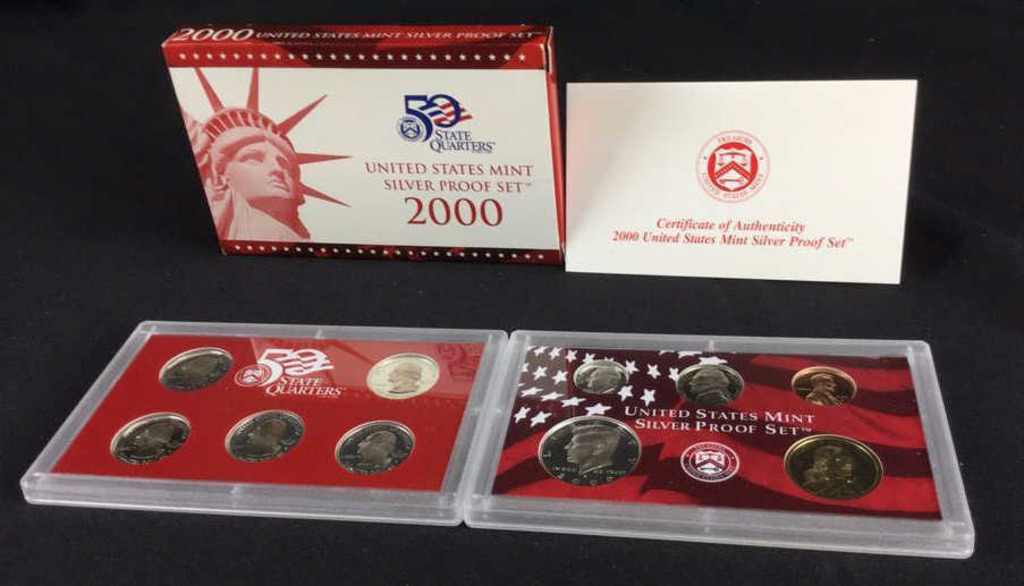 2000 United States Mint Silver Proof Set-W