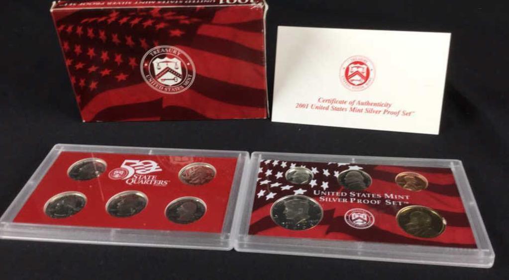 2001 United States Mint Silver Proof Set-W