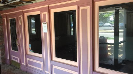 B - Purple & Pink Glass Storefront