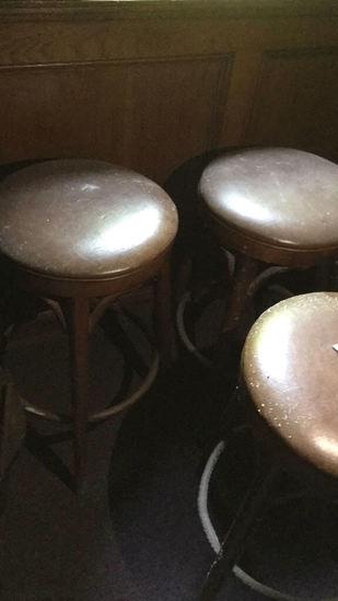 I - (3) Wood Barstools (mold Present)