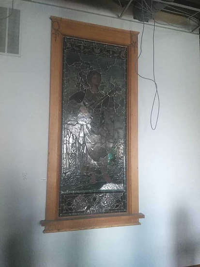 CU - Large Stained Glass Wall Insert