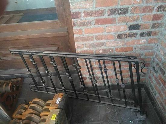 D - (2) Wrought Iron Handrails