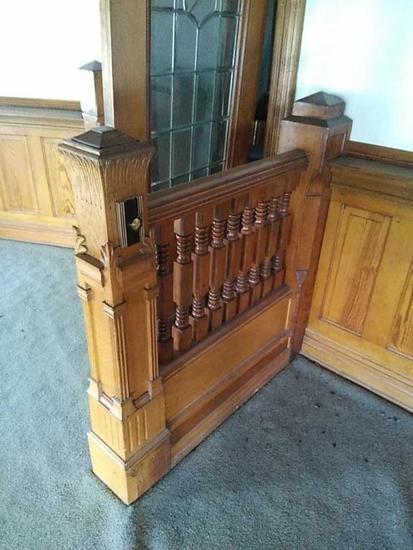 F - Carved Oak Handrail