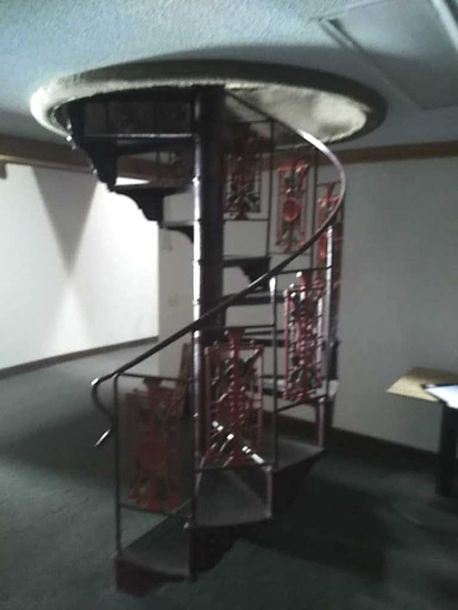 H/H - Cast Iron & Metal Spiral Staircase