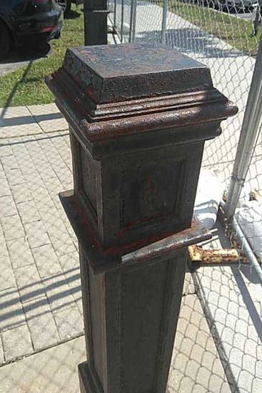 Out - (2) Cast Iron Hitching Posts