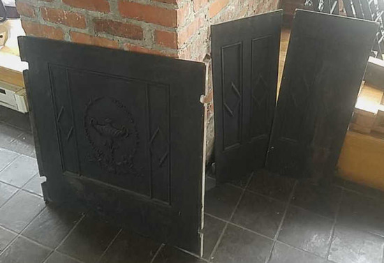 F - (3) Cast Iron Grate Doors