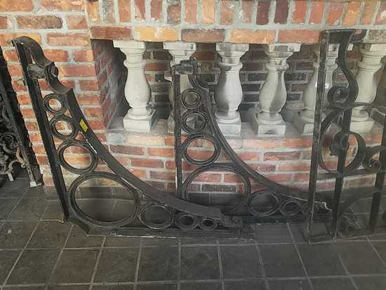 F - (2) Large Cast Iron Brackets