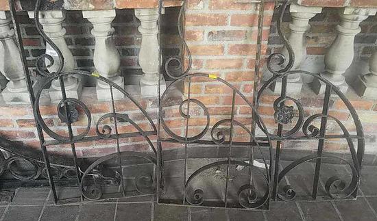 F - (3) Large Cast Iron Brackets