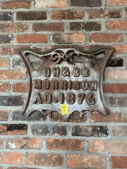 F - Metal Morrison Co. Plaque