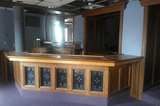 I - Private Oak Bar With Back Bar & Sinks