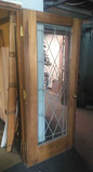 A - Leaded Glass Entry Door
