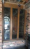 A - (2) Tall Wood/Metal Casement Windows