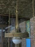 C - Large Tiffany Inspired Brass Chandelier