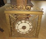 C - Tiffany Inspired Solid Brass Clock