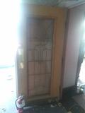 G - Beveled Lead Glass Push Open Door