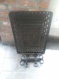 D - Black Cast Grate & Handrails
