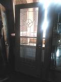 G - Leaded Beveled Glass Entry Door