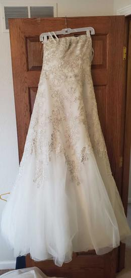 U - Jewel Tulle A-Line Wedding Dress with Lace Detail