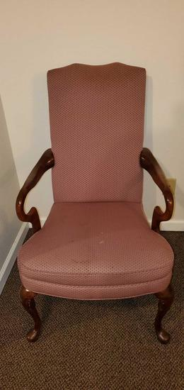 D- Queen Anne Style Upholstered Chair