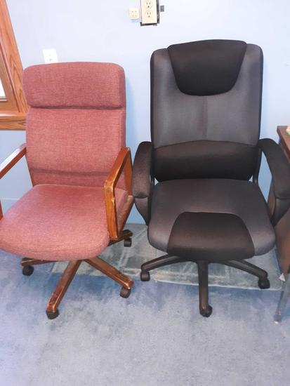 U- (2) Office Chairs