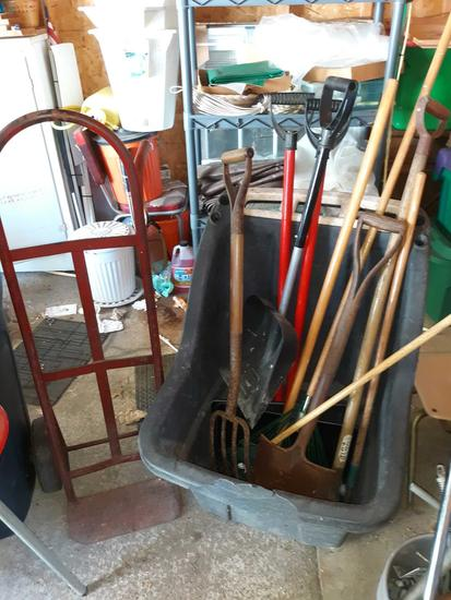 G - Dolly, Wheel Barrow, And Yard Tools