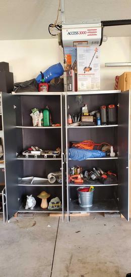 G- Double Storage Cabinets Unit & Contents