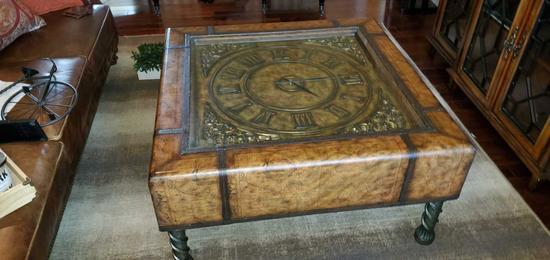 LR- Clock Coffee Table