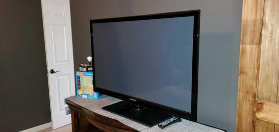 """B1- Samsung 43"""" Flat Screen Television with Mz Pacman"""