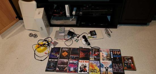 B- Wii Console & Games, Atari Flashback, Sony Blue Ray, Yamaha Receiver