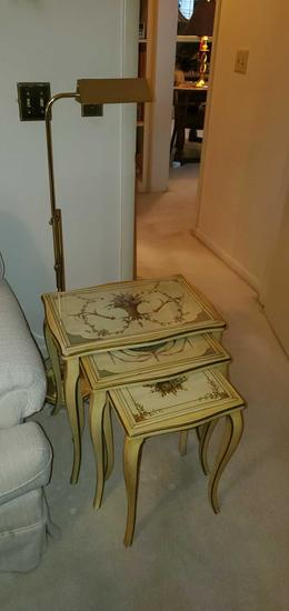 MB- Nesting Tables & Brass Lamp