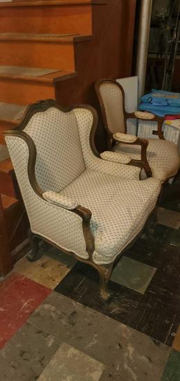 B- Pair of Antique Chairs