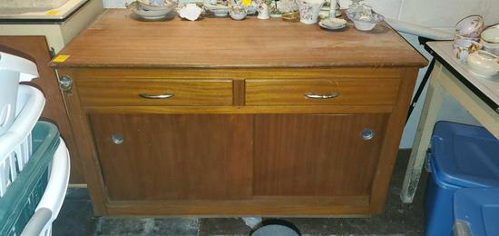 BS- Solid Wood Bar Cabinet on Wheels